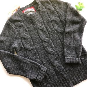 American Eagle cashmere blend charcoal sweater Med